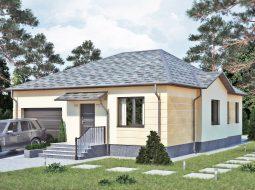 Проект одноэтажного дома с гаражом «КО-9»