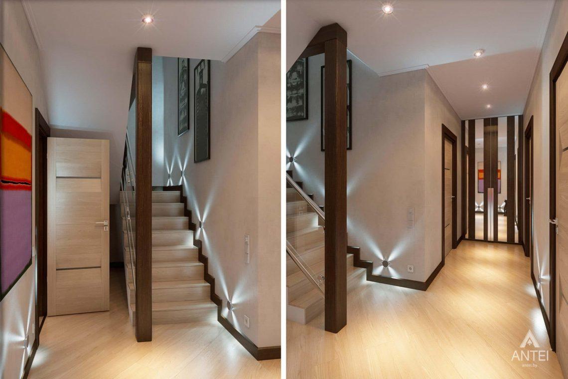 Дизайн интерьера таунхауса в России - лестница фото №1