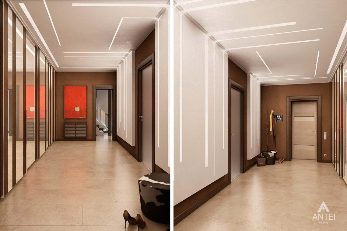 Дизайн интерьера таунхауса в России - прихожая фото №2