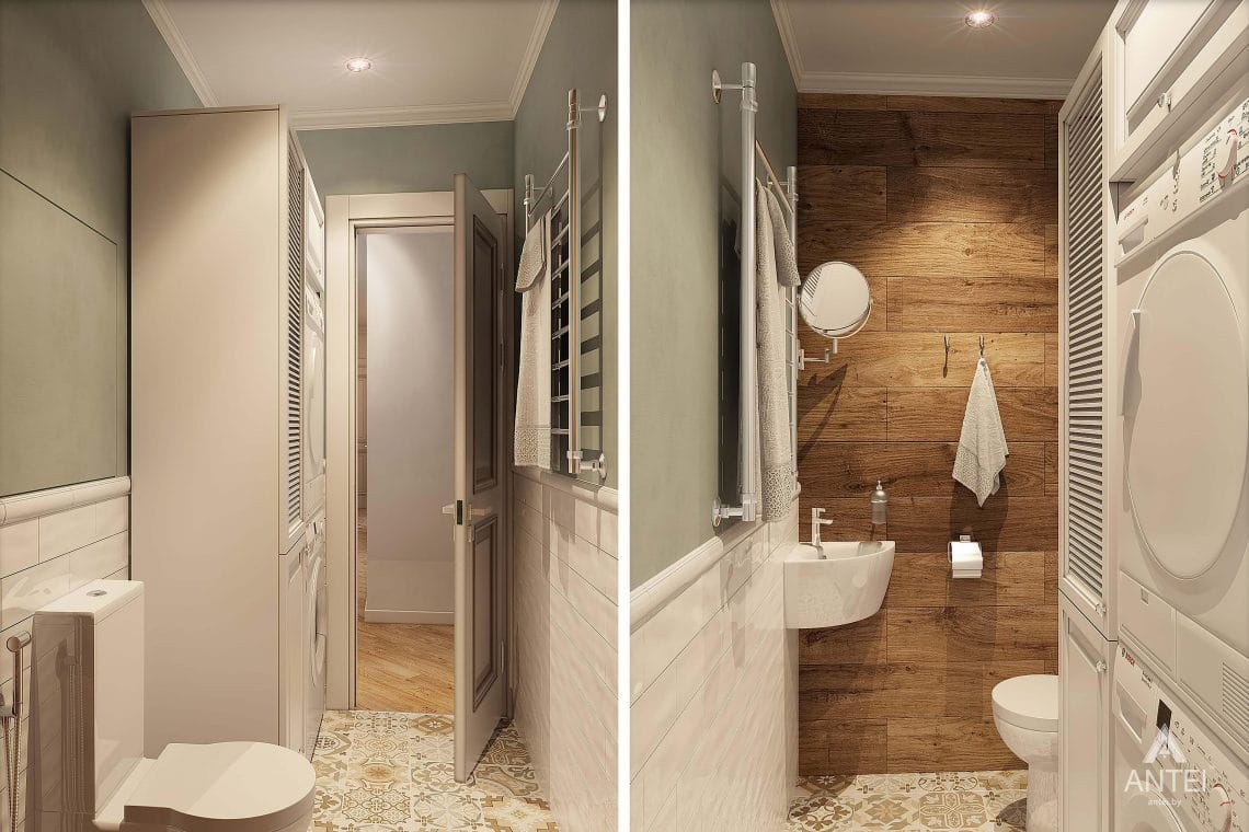 Дизайн интерьера квартиры в Минске - туалет фото №2