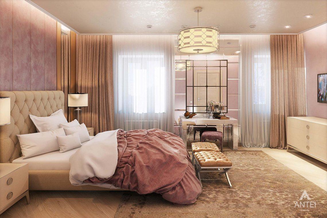 Дизайн интерьера таунхауса в России - спальня фото №1