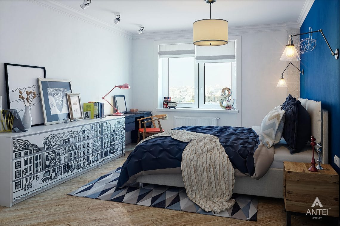 Дизайн интерьера квартиры в Минске - спальня фото №4