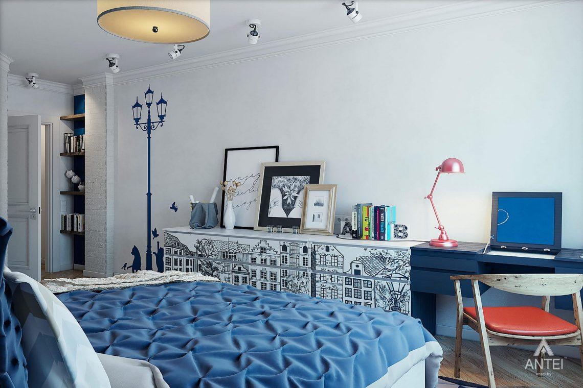 Дизайн интерьера квартиры в Минске - спальня фото №5