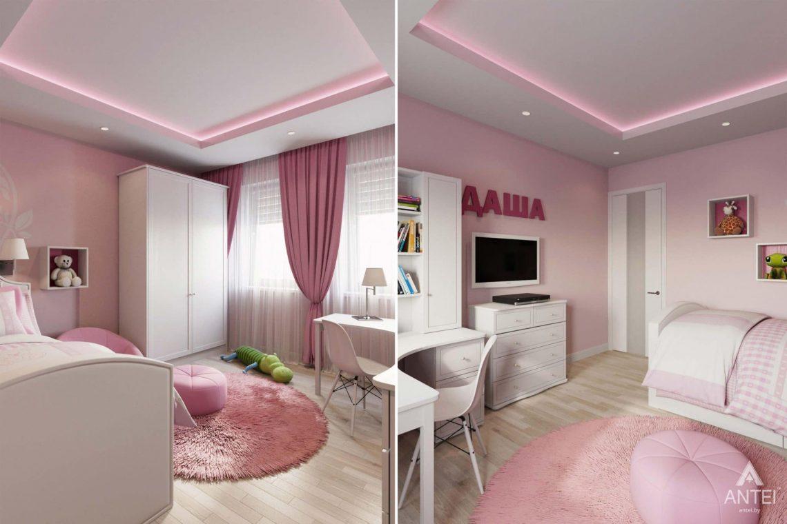 Дизайн интерьера загородного дома в п.Цегельня, Гомельский р-н - детская комната для девочки фото №2