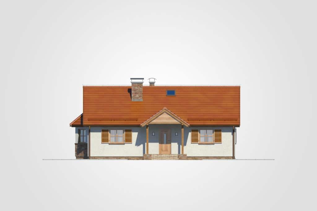 Фасад одноэтажного дома с террасой «КО-94» - спереди