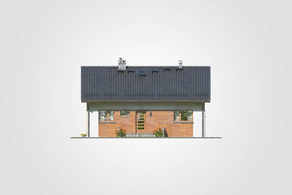 Фасад одноэтажного дома с террасой «КО-109» - спереди