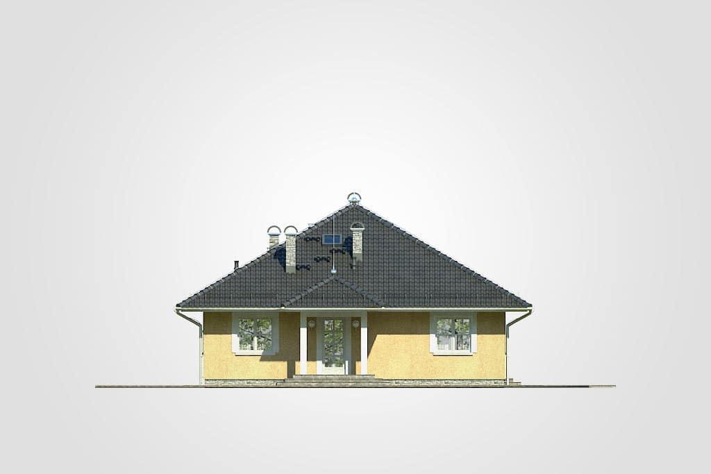 Фасад одноэтажного дома с террасой «КО-111» - спереди
