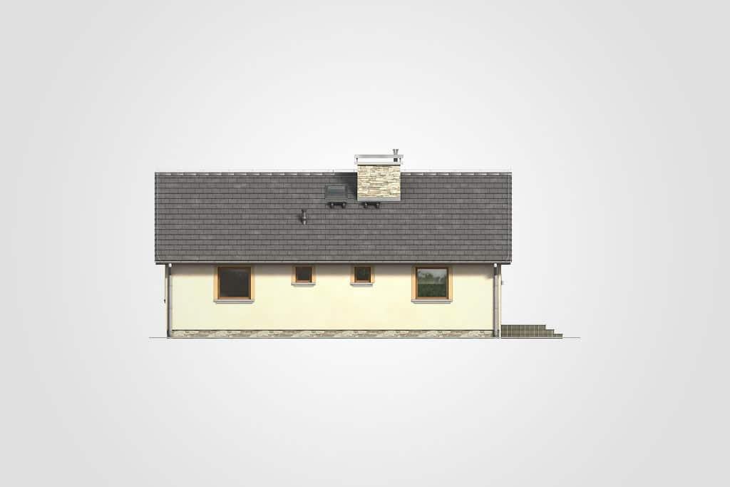 Фасад одноэтажного дома с террасой «КО-113» - сзади