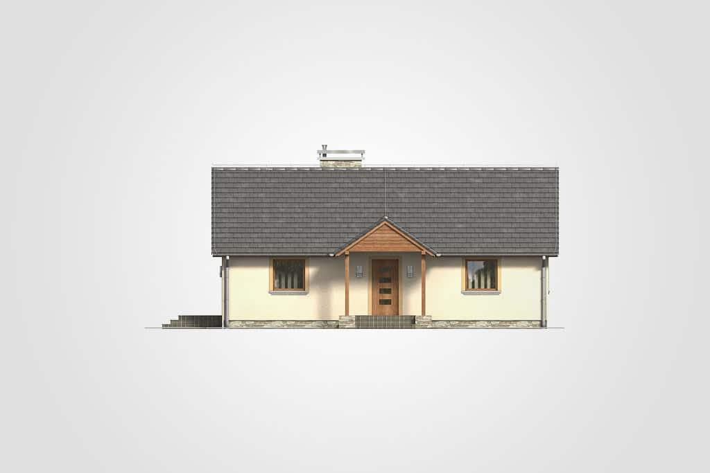 Фасад одноэтажного дома с террасой «КО-113» - спереди