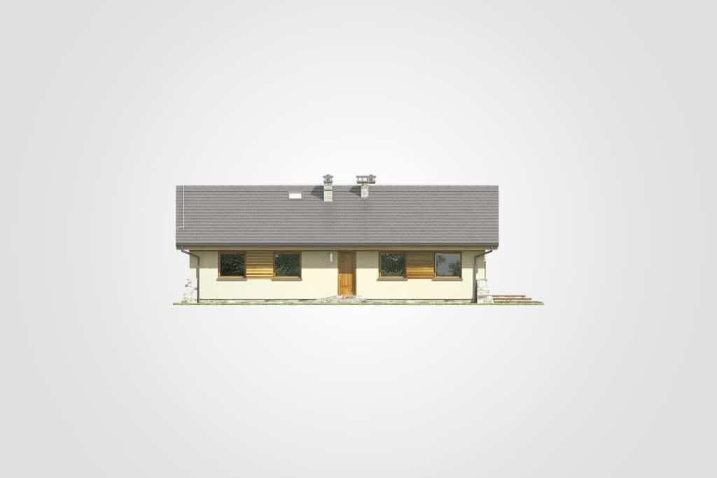 Фасад одноэтажного дома «КО-95» - сзади