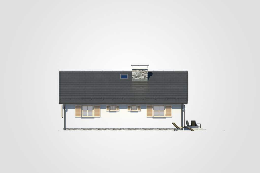 Фасад одноэтажного дома с террасой «КО-78» - спереди