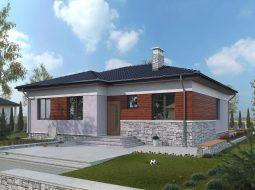 Проект одноэтажного дома с террасой «КО-8»