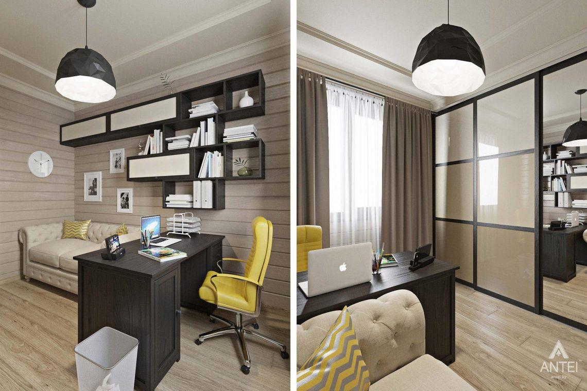 Дизайн интерьера загородного дома в Гомельском районе - кабинет фото №1