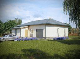 Проект одноэтажного дома с гаражом и верандой «КО-21»