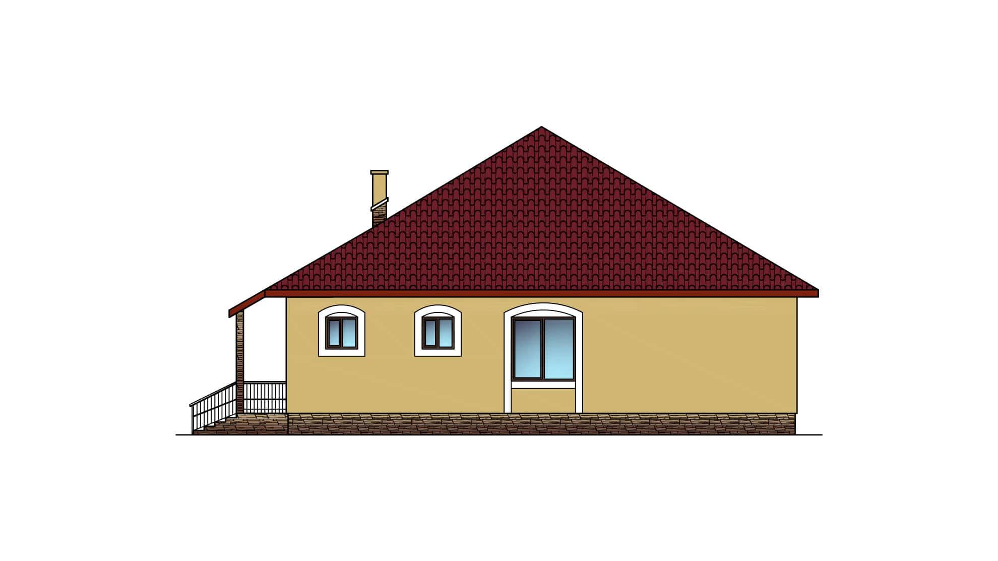 Фасад этажа одноэтажного дома «КО-32» - справа