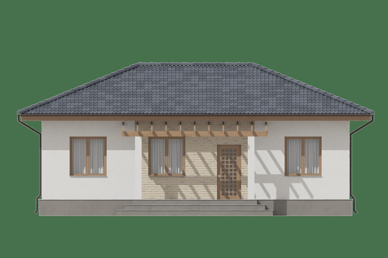 Фасад одноэтажного дома «КО-3» - спереди