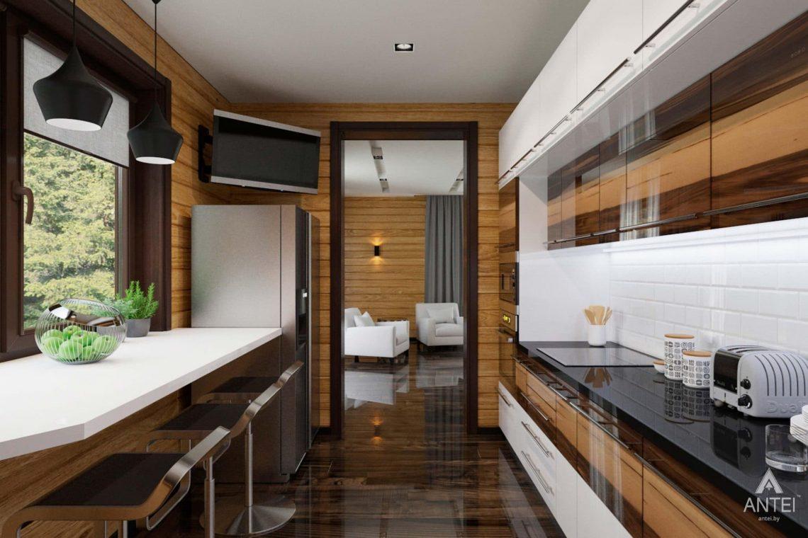 Дизайн интерьера загородного дома в Гомельском районе - кухня фото №2