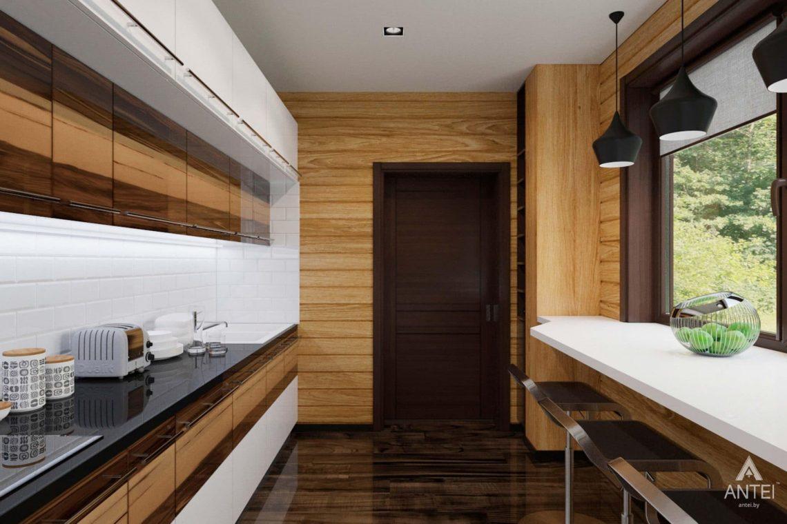 Дизайн интерьера загородного дома в Гомельском районе - кухня фото №3