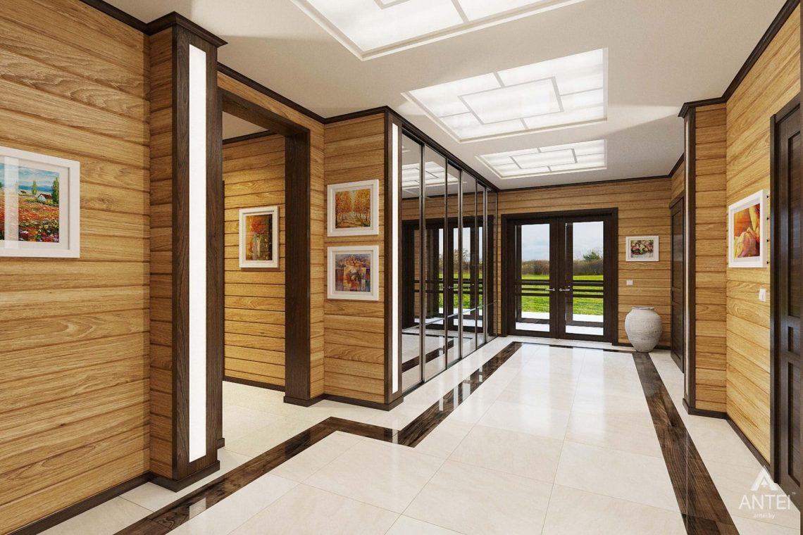 Дизайн интерьера загородного дома в Гомельском районе - прихожая фото №2