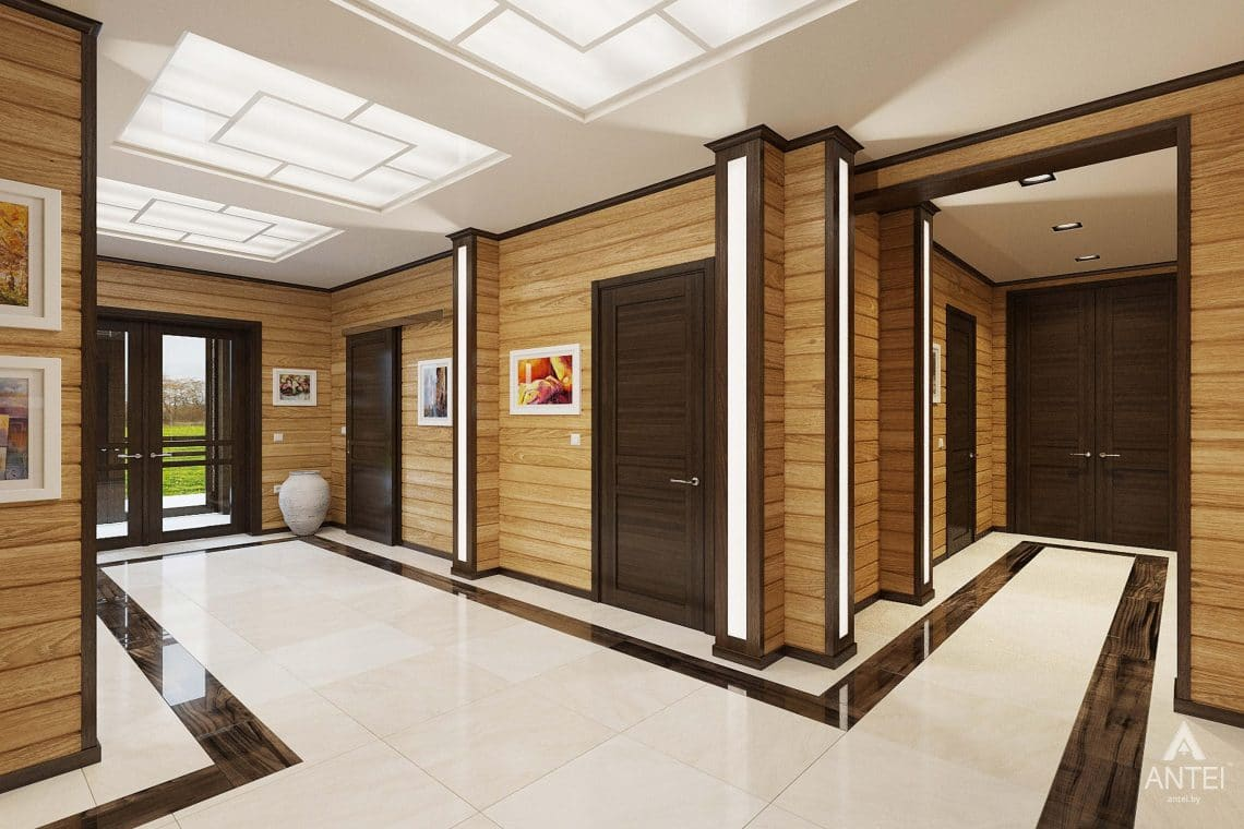 Дизайн интерьера загородного дома в Гомельском районе - прихожая фото №1