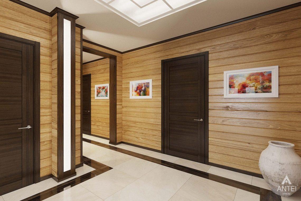 Дизайн интерьера загородного дома в Гомельском районе - прихожая фото №4