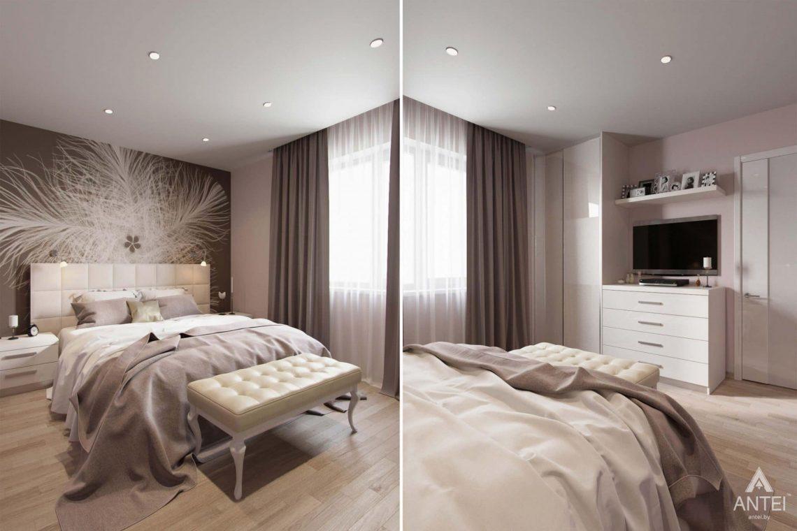 Дизайн интерьера загородного дома в п.Цегельня, Гомельский р-н - спальня фото №2