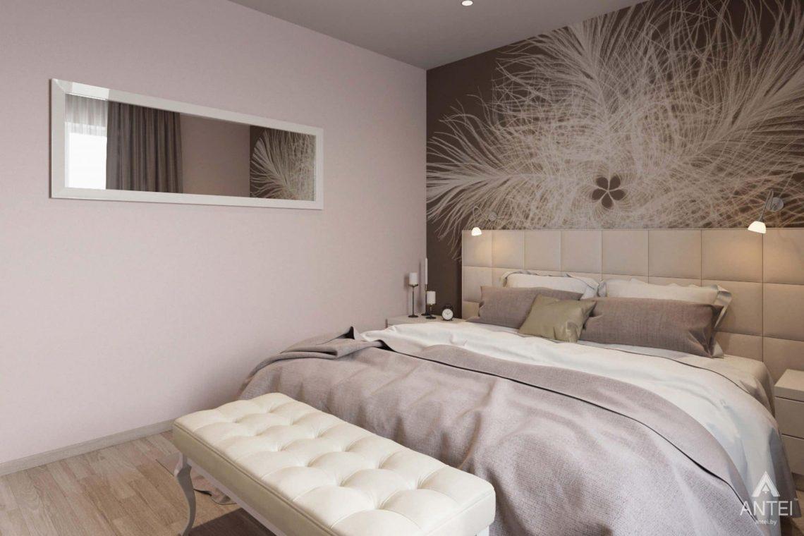 Дизайн интерьера загородного дома в п.Цегельня, Гомельский р-н - спальня фото №1