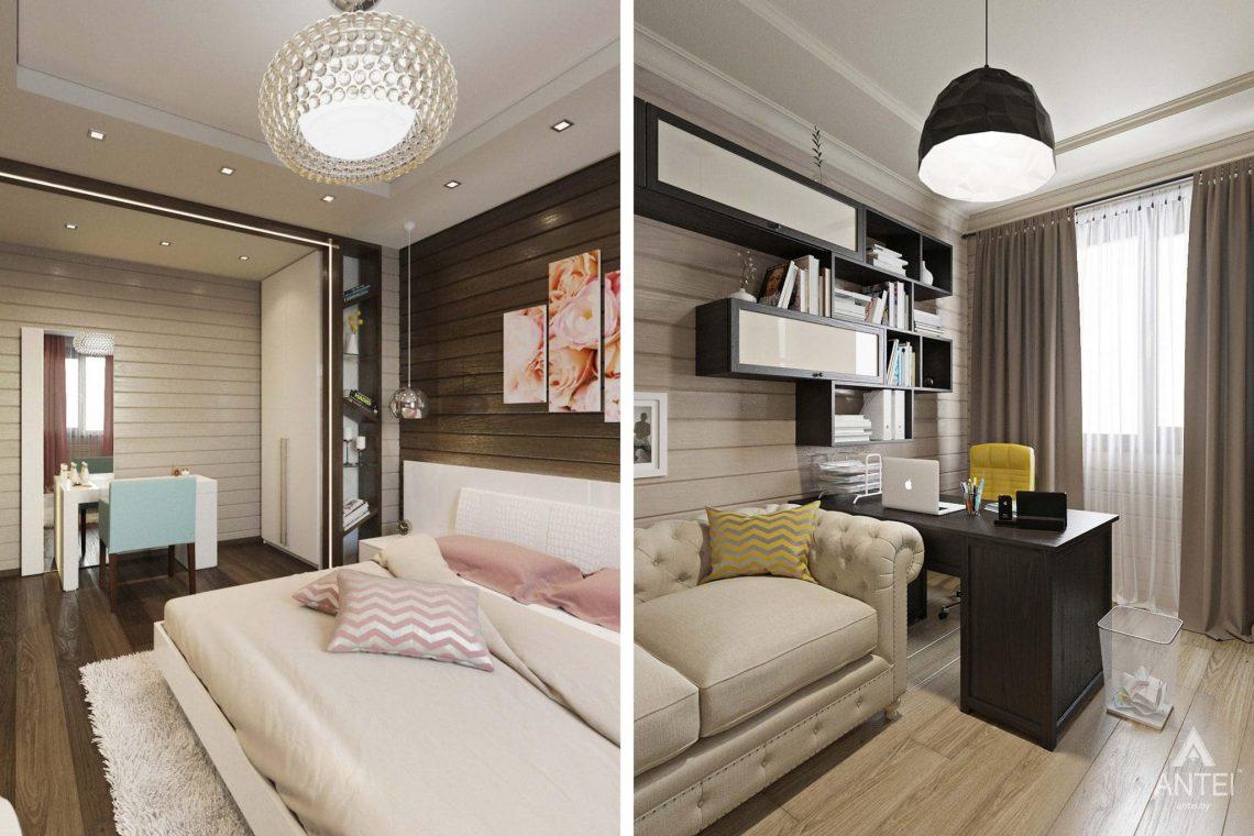 Дизайн интерьера загородного дома в Гомельском районе - спальня фото №2