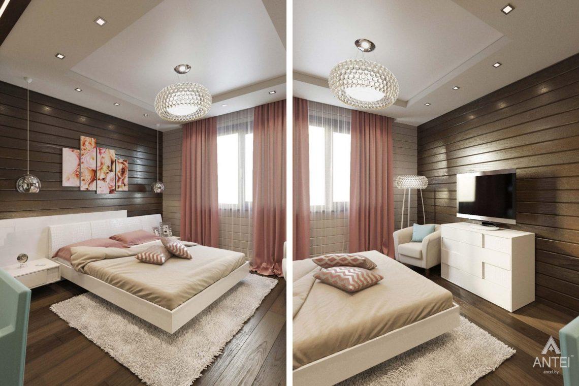 Дизайн интерьера загородного дома в Гомельском районе - спальня фото №1