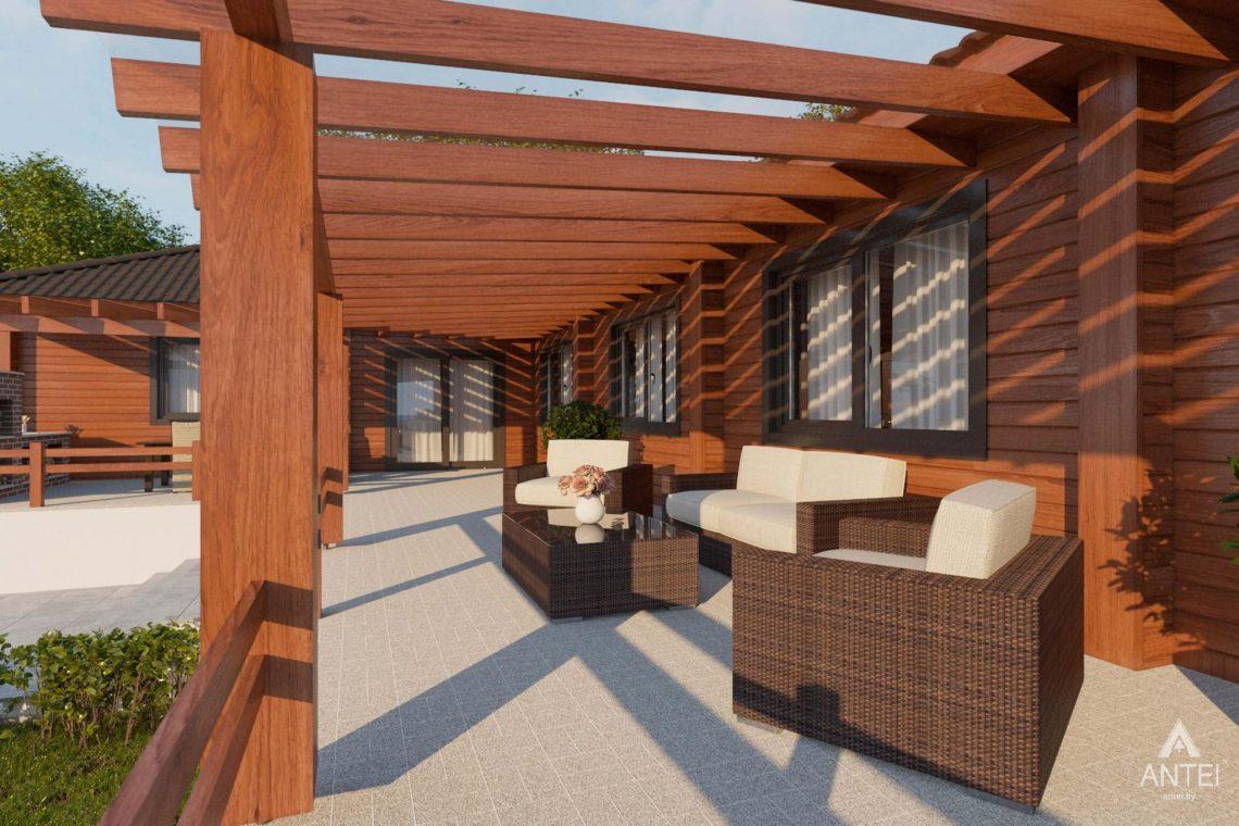 Дизайн интерьера загородного дома в Гомельском районе - терраса фото №1