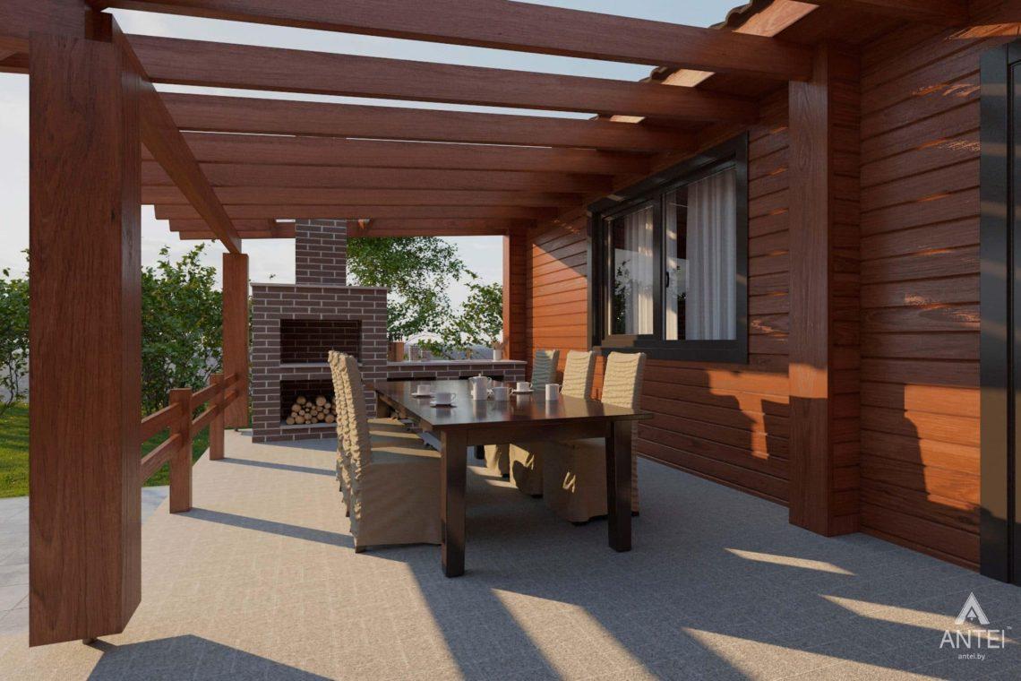 Дизайн интерьера загородного дома в Гомельском районе - терраса фото №3