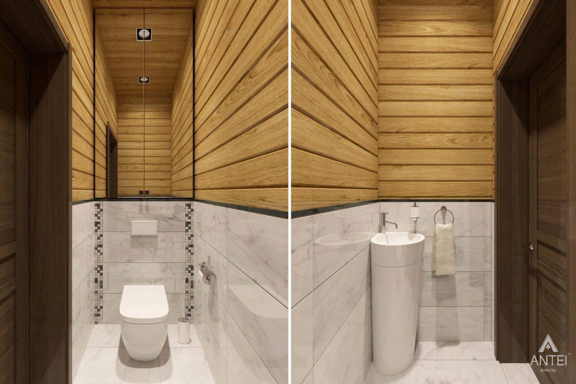 Дизайн интерьера загородного дома в Гомельском районе - туалет фото №1