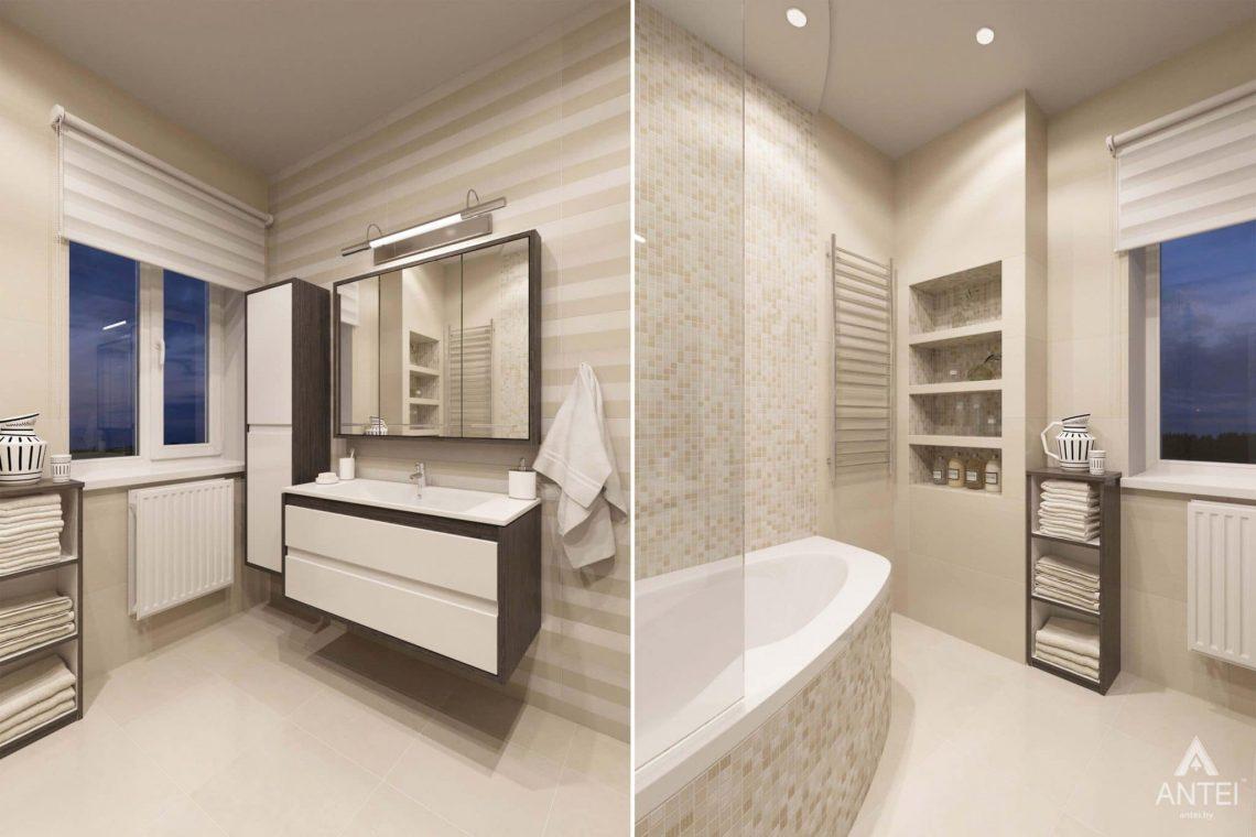 Дизайн интерьера загородного дома в п.Цегельня, Гомельский р-н - ванная фото №1