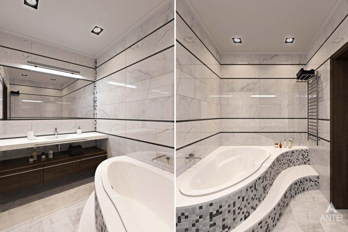 Дизайн интерьера загородного дома в Гомельском районе - ванная фото №1