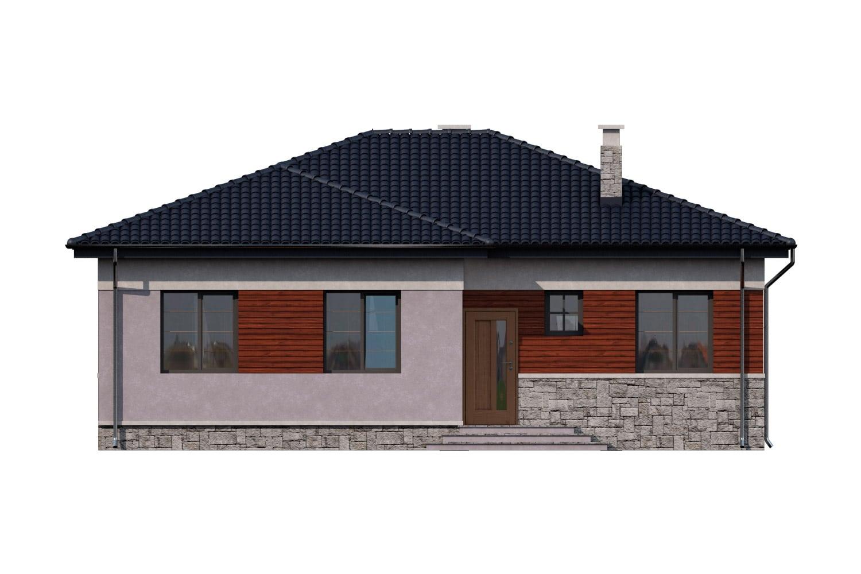 Фасад одноэтажного дома с террасой «КО-8» - спереди