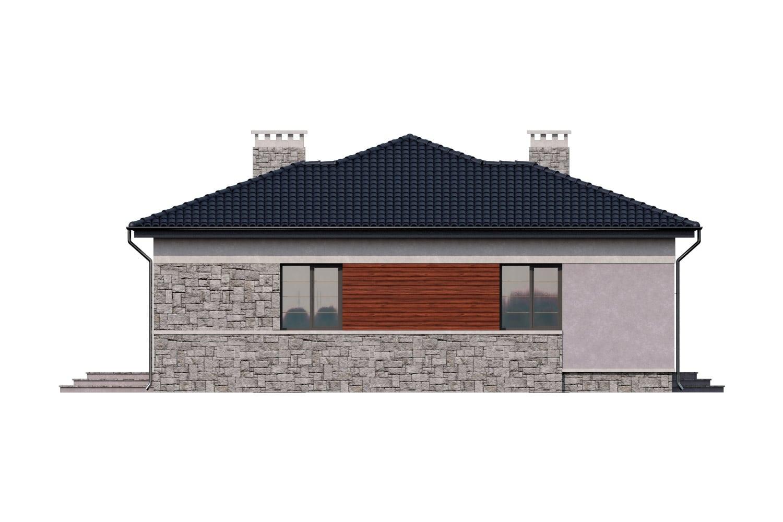 Фасад одноэтажного дома с террасой «КО-8»