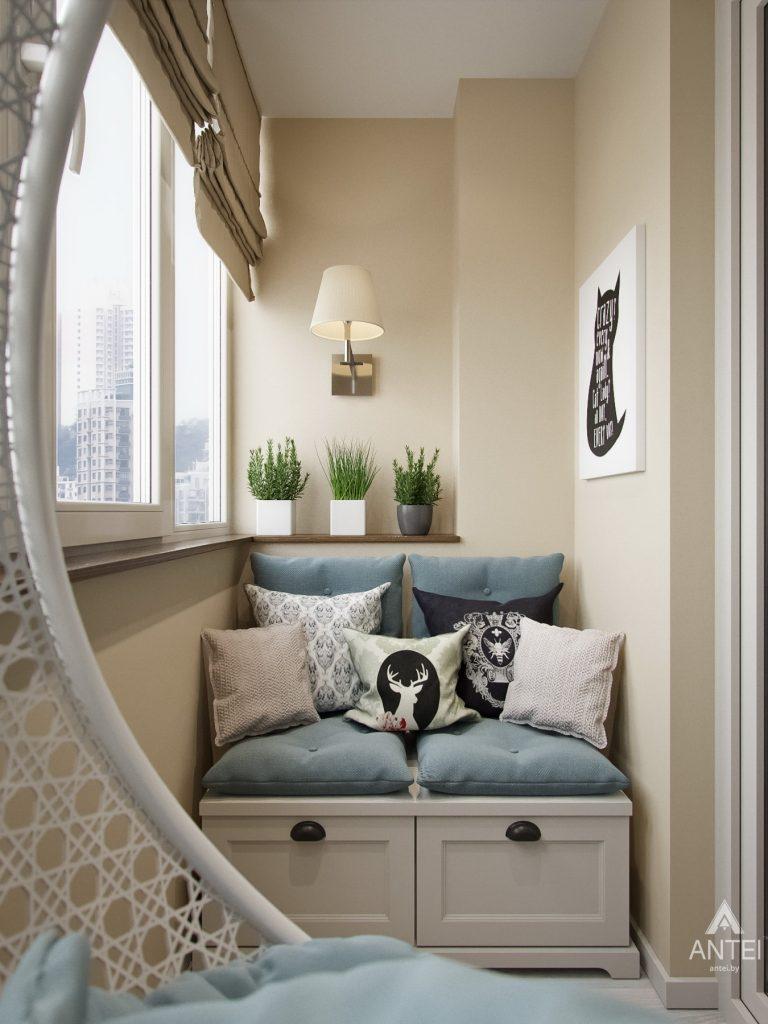 Дизайн интерьера двухкомнатной квартиры в Мозыре - балкон фото №1