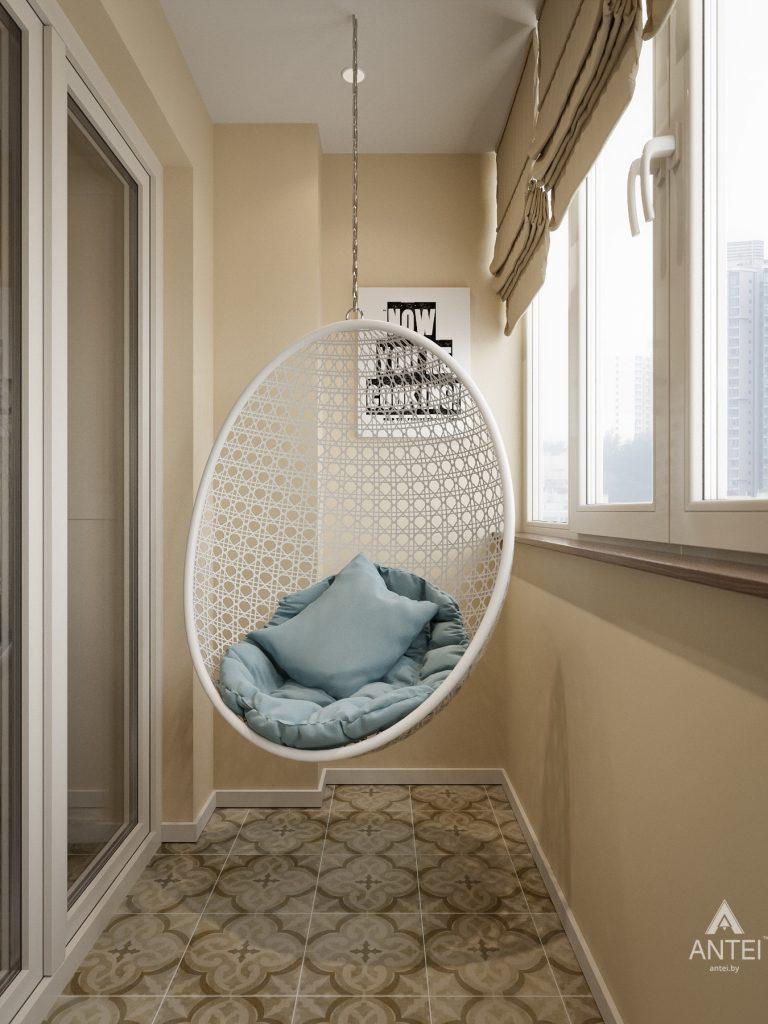 Дизайн интерьера двухкомнатной квартиры в Мозыре - балкон фото №2