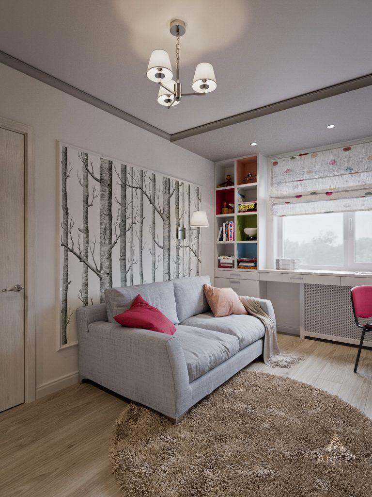 Дизайн интерьера двухкомнатной квартиры в Гомеле - детская комната фото №2