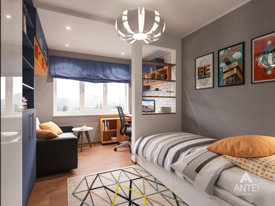 Дизайн интерьера трехкомнатной квартиры в Рогачеве - детская комната фото №1