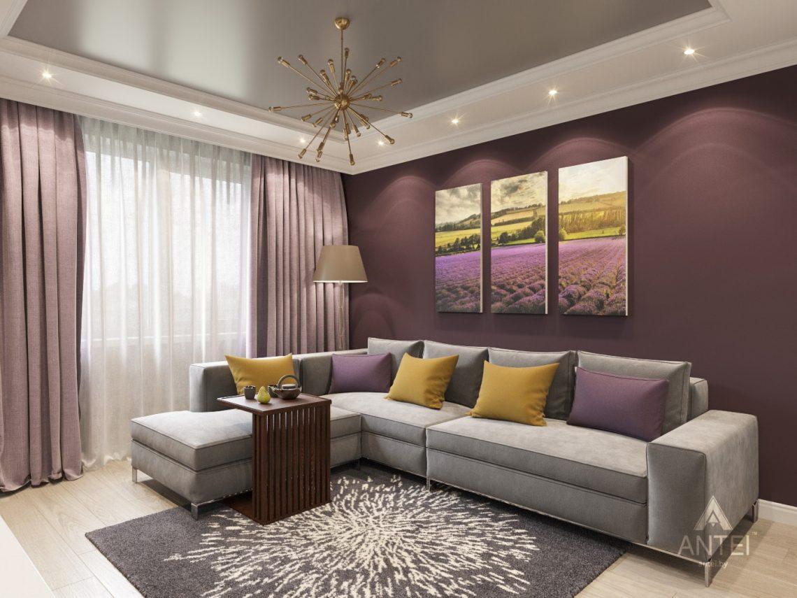 Дизайн интерьера двухкомнатной квартиры в Гомеле - гостиная фото №1