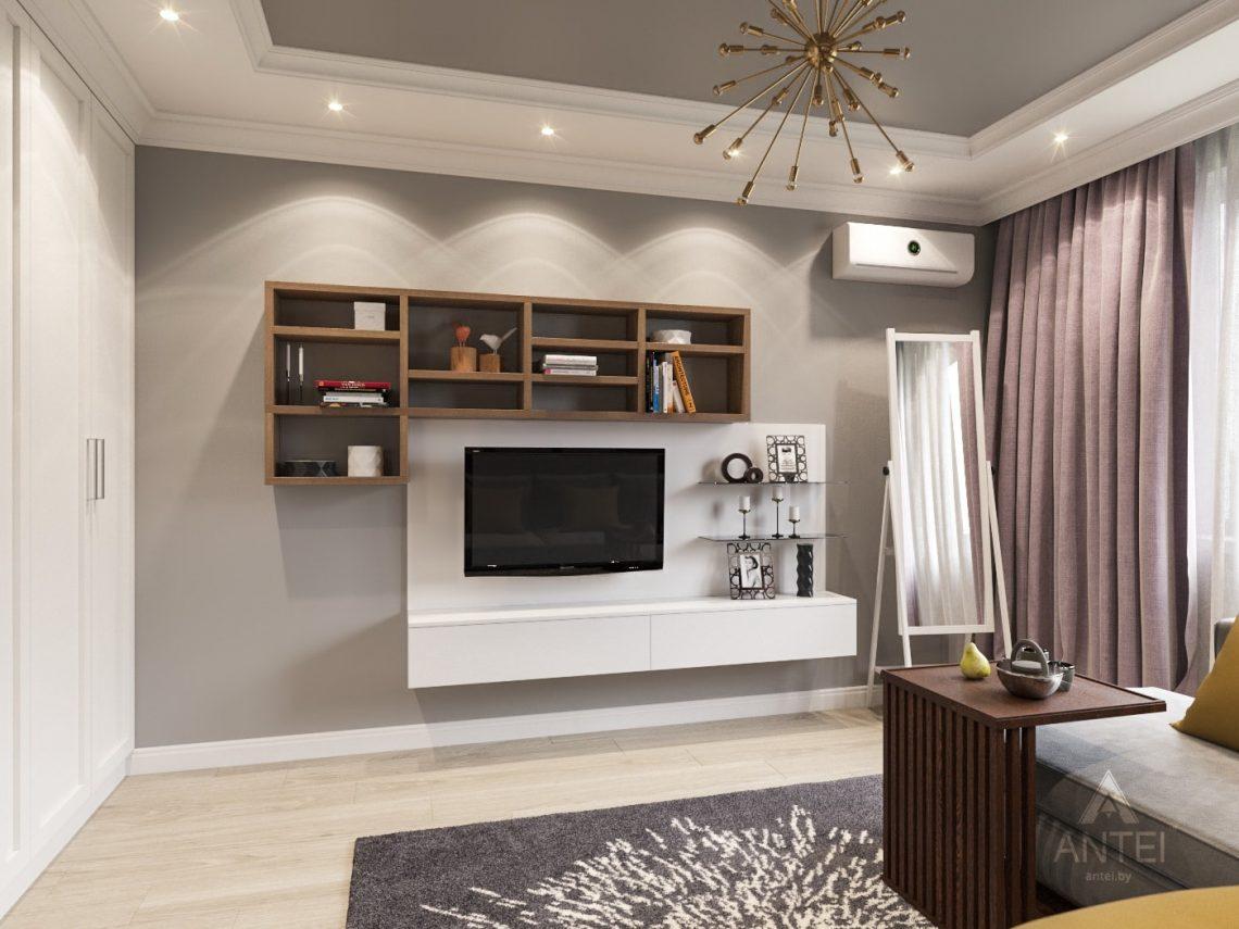 Дизайн интерьера двухкомнатной квартиры в Гомеле - гостиная фото №2