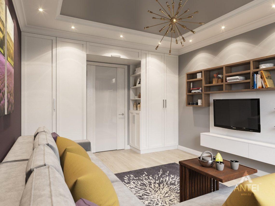 Дизайн интерьера двухкомнатной квартиры в Гомеле - гостиная фото №3