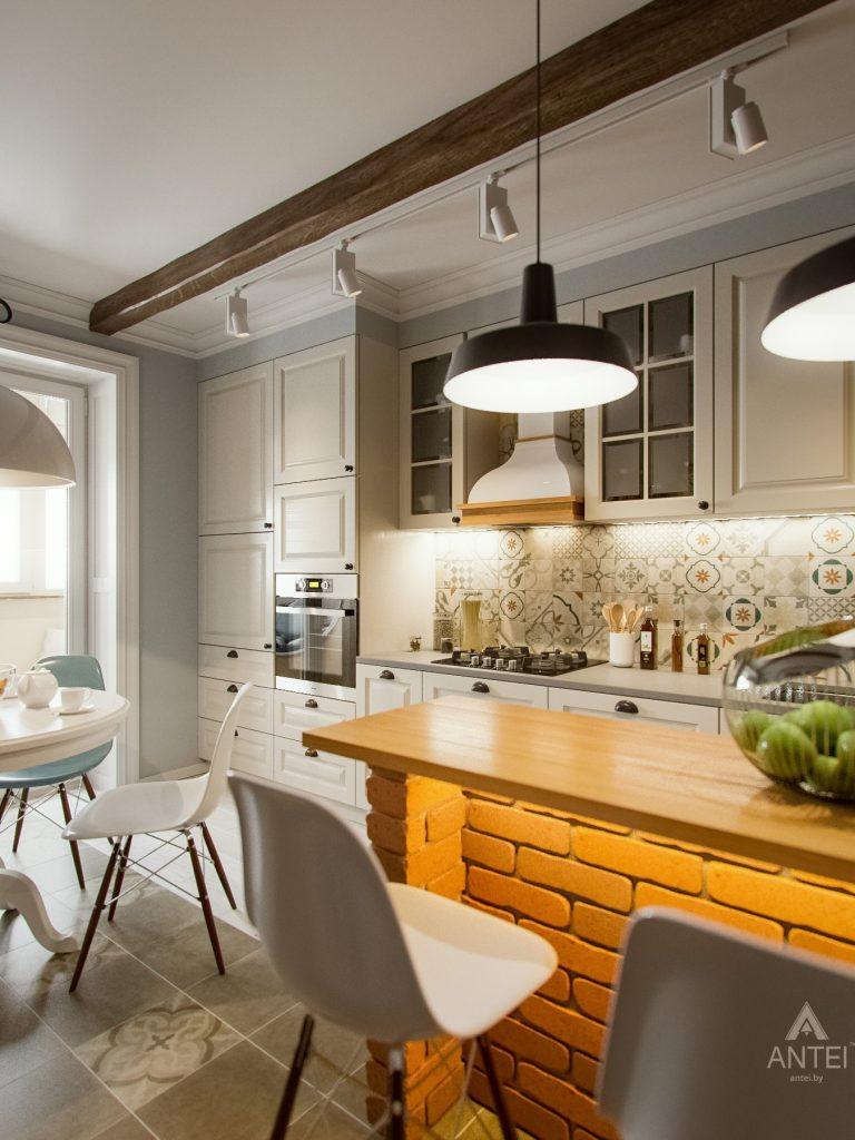 Дизайн интерьера двухкомнатной квартиры в Мозыре - кухня фото №1