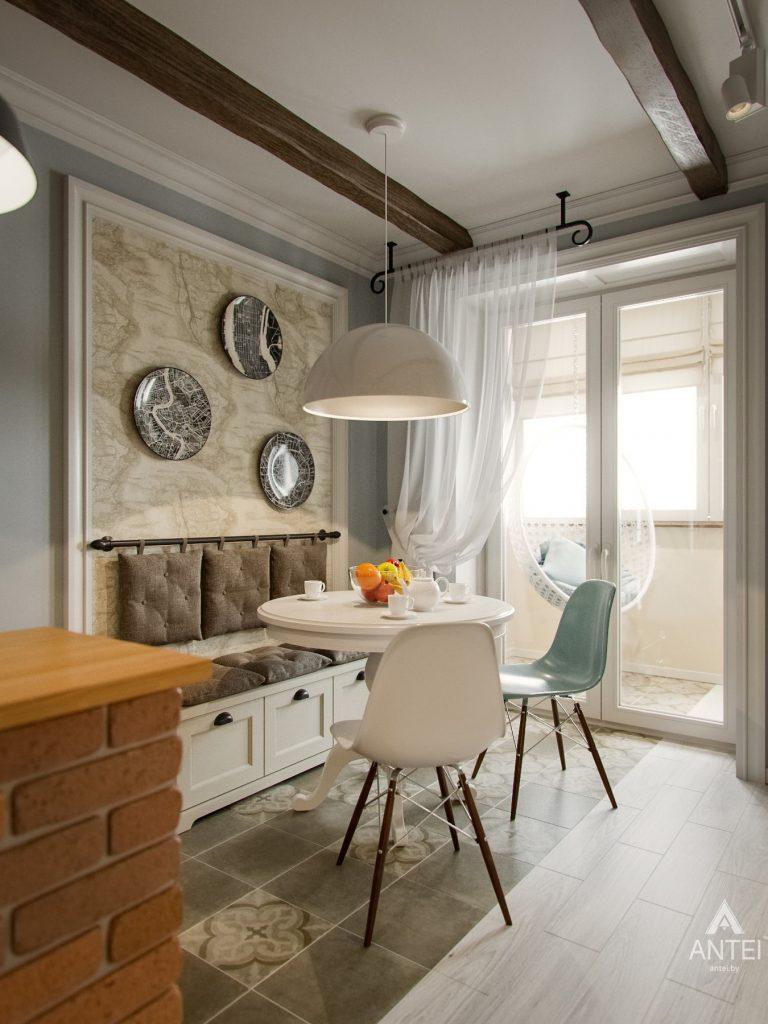 Дизайн интерьера двухкомнатной квартиры в Мозыре - кухня фото №2