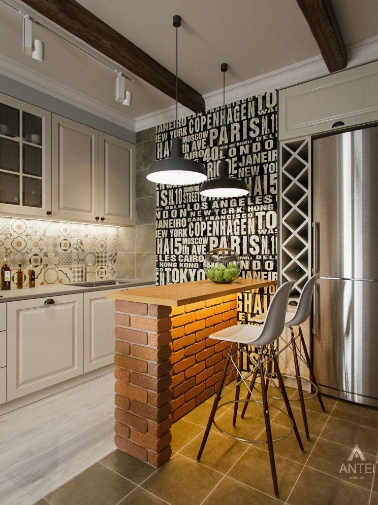 Дизайн интерьера двухкомнатной квартиры в Мозыре - кухня фото №4