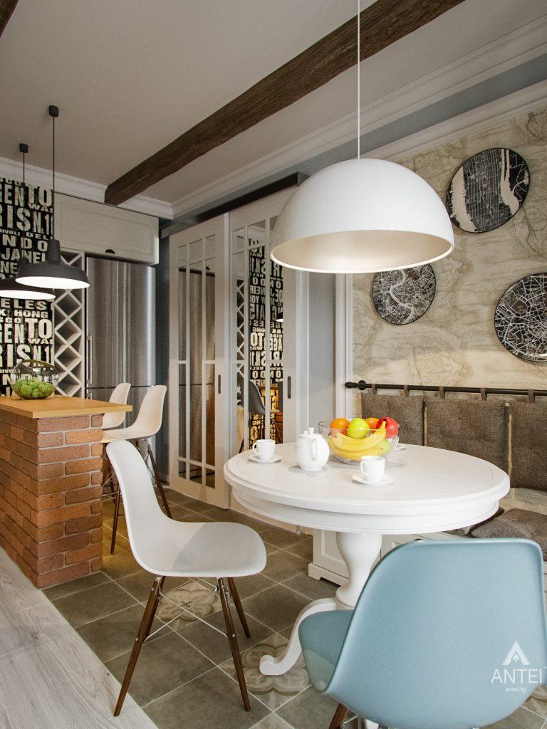 Дизайн интерьера двухкомнатной квартиры в Мозыре - кухня фото №3