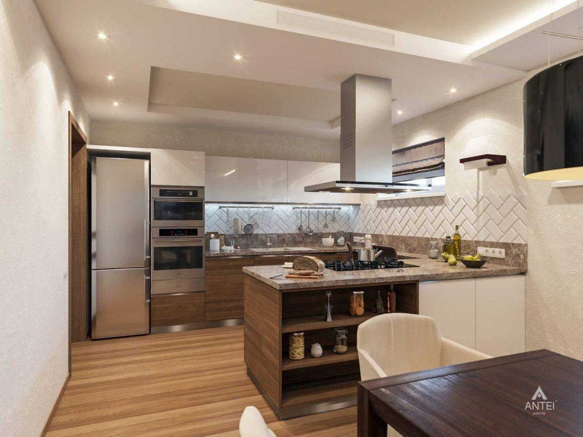 Дизайн интерьера кухни в цокольном этаже коттеджа в Гомеле - фото №5