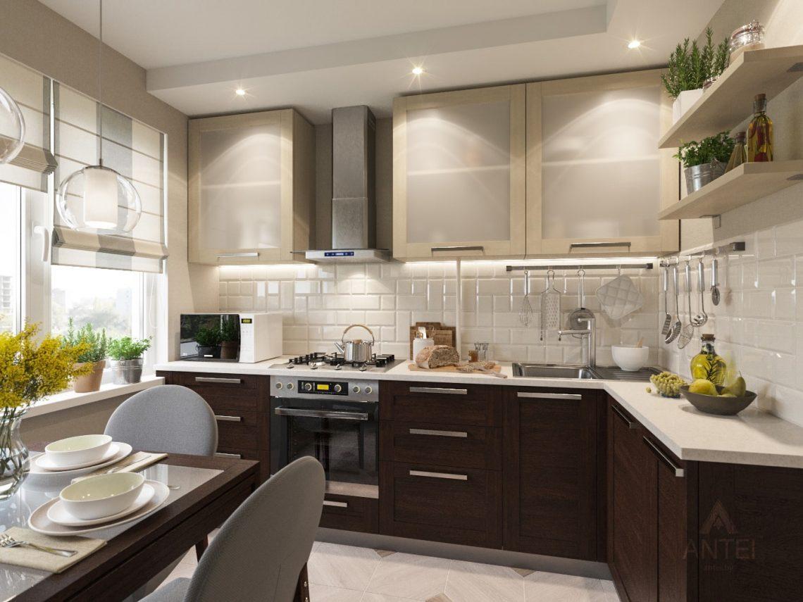 Дизайн интерьера трехкомнатной квартиры в Рогачеве - кухня фото №2