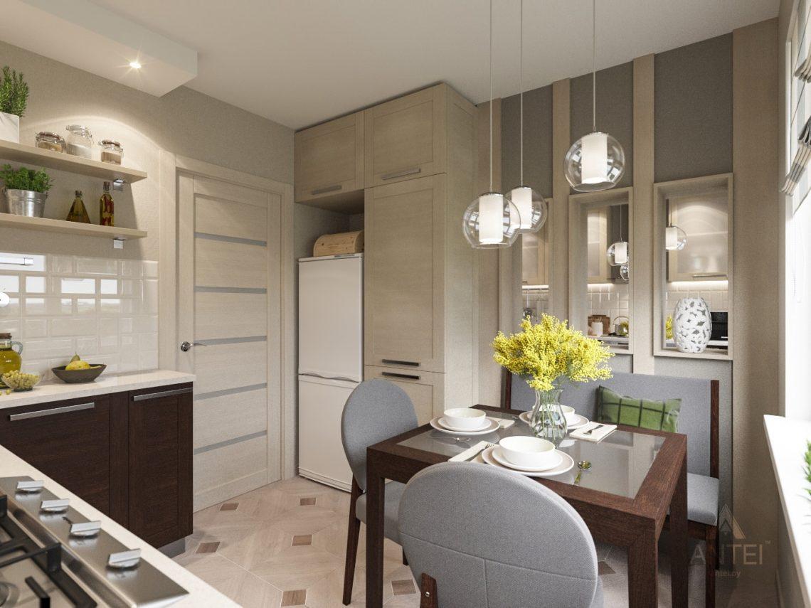 Дизайн интерьера трехкомнатной квартиры в Рогачеве - кухня фото №4
